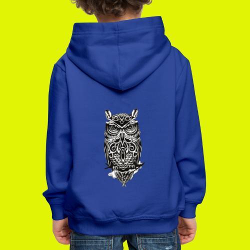 maglietta gufo - Felpa con cappuccio Premium per bambini