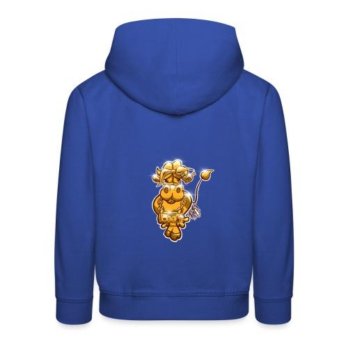 Goldene Gangster Kuh / Gold Thug Cow - Kinder Premium Hoodie