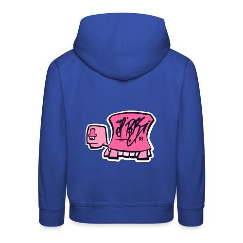 Tag turtle / Pink Schildkröte Logo - Kinder Premium Hoodie