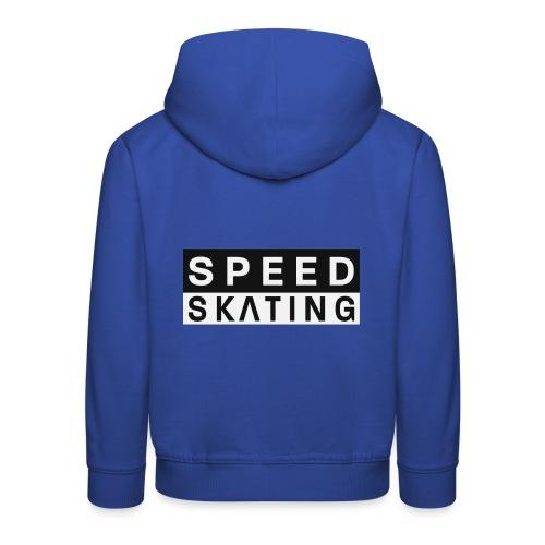 Speedskating Schrift - Kinder Premium Hoodie