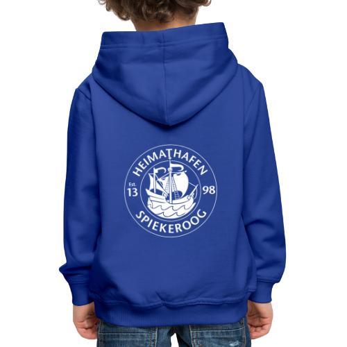 Heimathafen Logo Weiß - Kinder Premium Hoodie