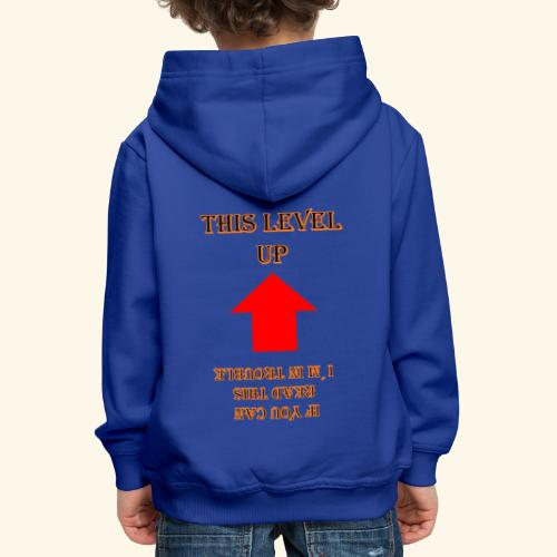 Level Trouble Geschenk - Kinder Premium Hoodie