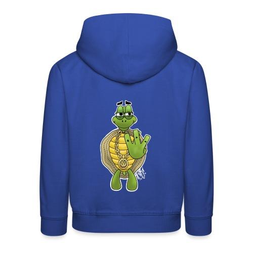 West Coast Schildkröte / Hip-Hop Turtle - Kinder Premium Hoodie