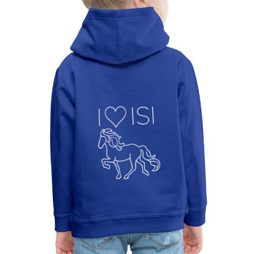 I love Isi, weiß - Kinder Premium Hoodie
