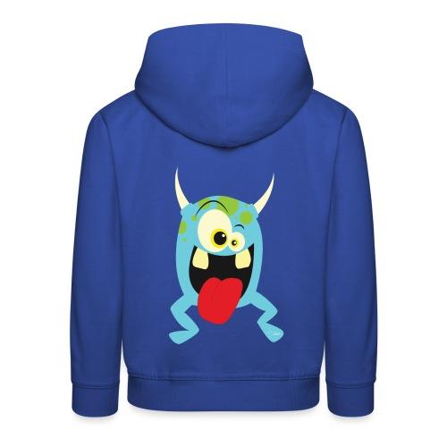 Monster blue - Kinderen trui Premium met capuchon