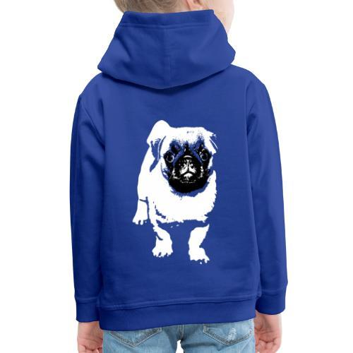 Mops Hund Hunde Möpse Geschenk - Kinder Premium Hoodie