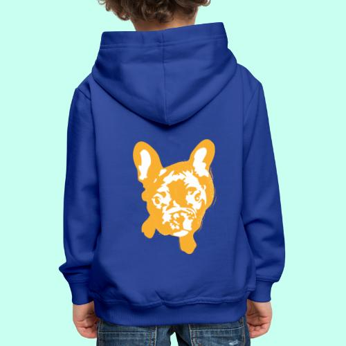 Bulldogge Beige schauend - Kinder Premium Hoodie