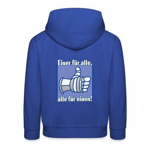 Kinder Langarmshirt - Einer für alle, alle für e - Kinder Premium Hoodie