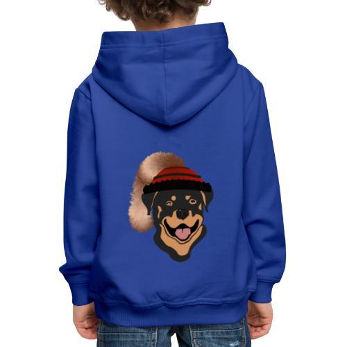 Rottweiler mit Wadelkappe - Kinder Premium Hoodie