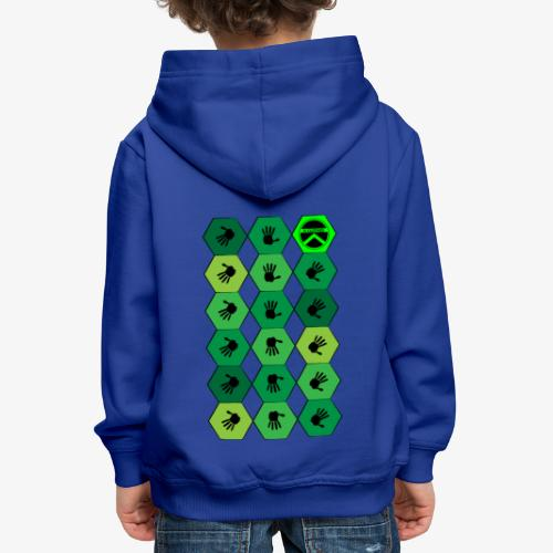 |K·CLOTHES| HEXAGON ESSENCE GREENS - Sudadera con capucha premium niño