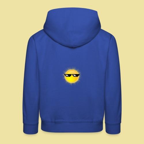 coole Sonne mit Sonnenbrille - Kinder Premium Hoodie