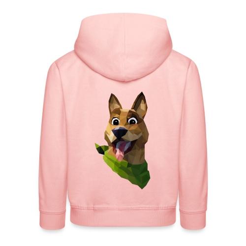 LOW POLY DOGO - Pull à capuche Premium Enfant