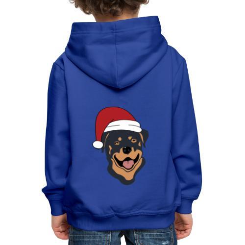 Weihnachtsmann Rottweiler - Kinder Premium Hoodie