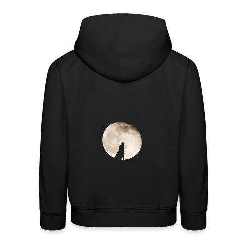 The wolf with the moon - Pull à capuche Premium Enfant