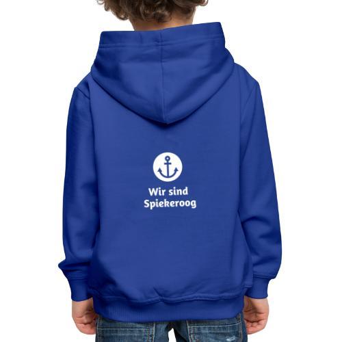 Wir sind Spiekeroog Logo weiss - Kinder Premium Hoodie