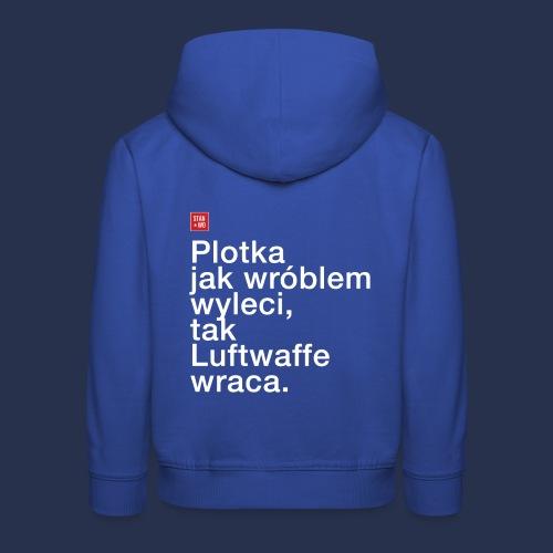 plotka - napis jasny - Bluza dziecięca z kapturem Premium