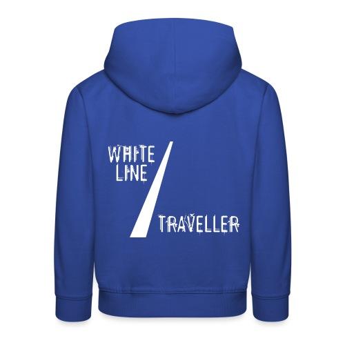 white line traveller - Kinderen trui Premium met capuchon
