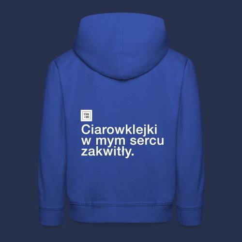 CIAROWKLEJKI - jasne - Bluza dziecięca z kapturem Premium