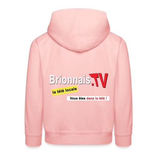 BTV logo shirt dos - Pull à capuche Premium Enfant