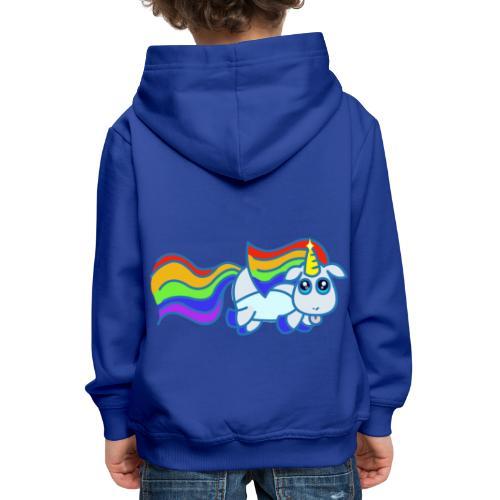 Nyan unicorn - Felpa con cappuccio Premium per bambini