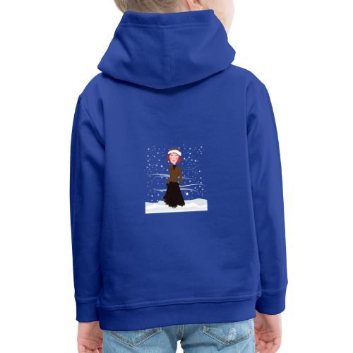 Heure d'hiver - Pull à capuche Premium Enfant