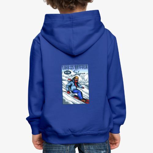 Ski Life - Pull à capuche Premium Enfant