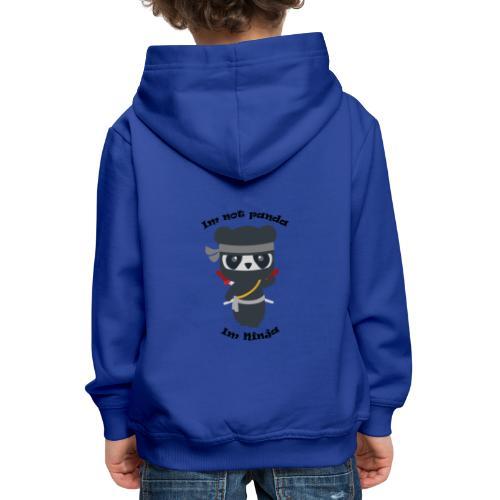 Non sono un Panda - Felpa con cappuccio Premium per bambini