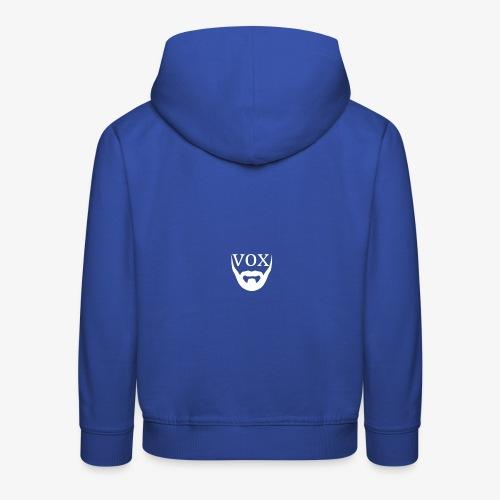 Logo Vox Bianco - Felpa con cappuccio Premium per bambini