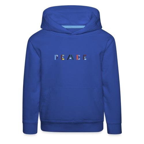 Peace på skrift - Premium hættetrøje til børn