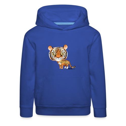 Tiger - Premium Barne-hettegenser