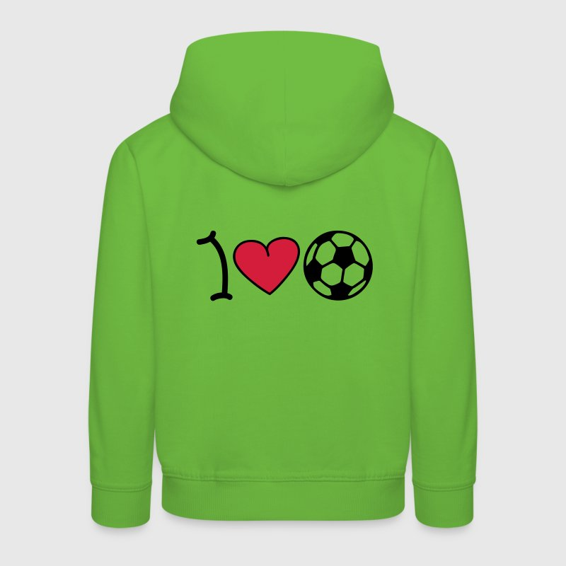 I love football - Kinderen trui Premium met capuchon
