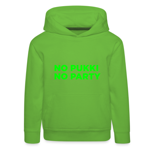 No Pukki, no party - Lasten premium huppari
