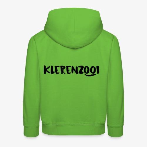 Witte kindercollectie Klerenzooi logo - Kinderen trui Premium met capuchon