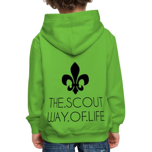 THE.SCOUT.WAY.OF.LIFE Typo Lilie - Farbe wählbar - Kinder Premium Hoodie