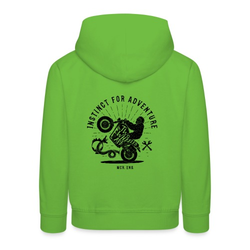 Two Wheeled Ape Wheelie Biker T shirt - Kids' Premium Hoodie