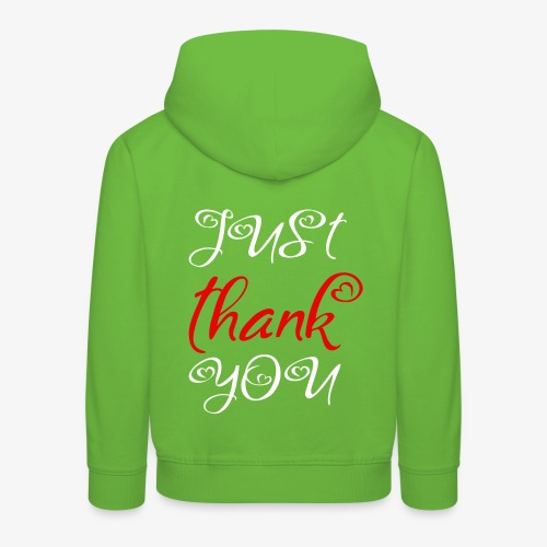 Just Thank you ! - Pull à capuche Premium Enfant