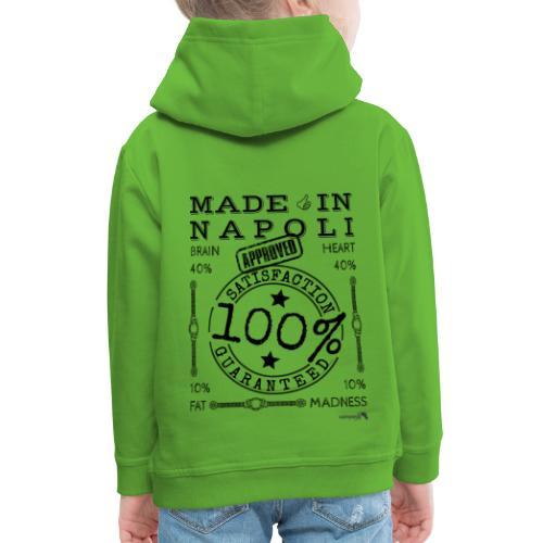 1,02 Made In Napoli - Felpa con cappuccio Premium per bambini