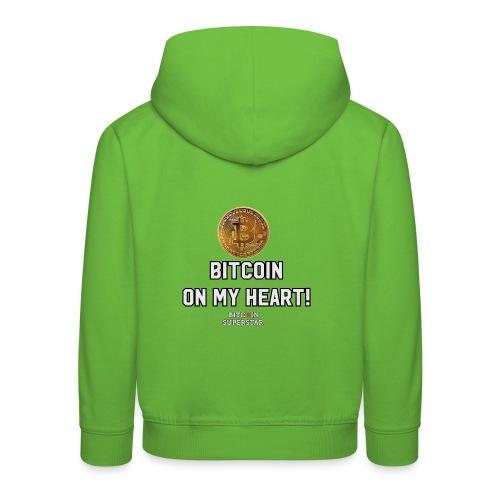 Bitcoin on my heart! - Felpa con cappuccio Premium per bambini