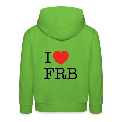 I Love FRB - Børnekollektion - Premium hættetrøje til børn