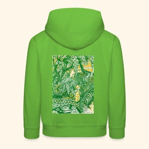 Children in a green garden - Lasten premium huppari