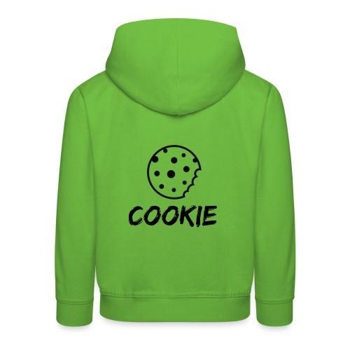 La galleta _-_ Negro _-_ galleta - Sudadera con capucha premium niño