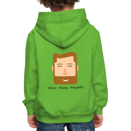 jesus loves myselfie - Kinder Premium Hoodie
