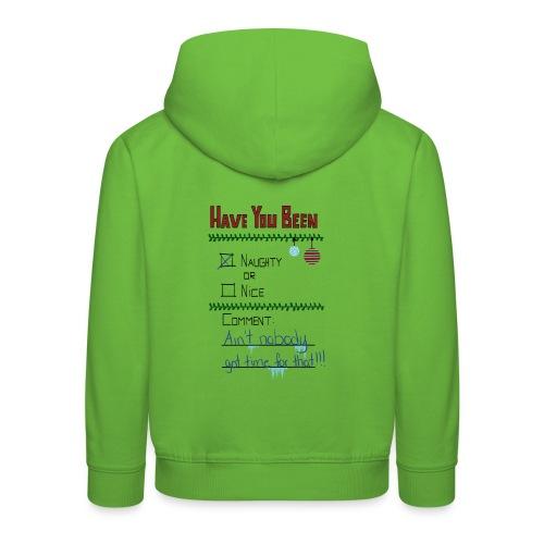 The Naugthy or Nice List - Premium hættetrøje til børn