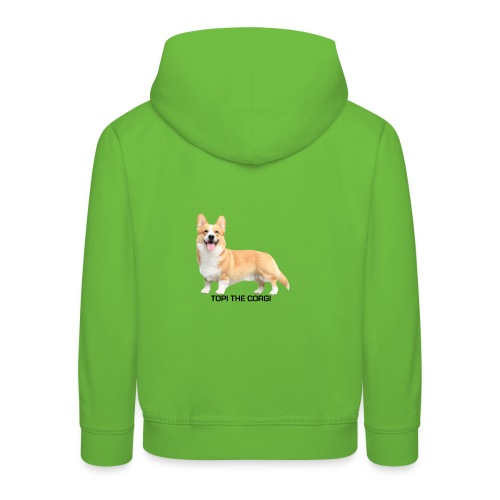 Topi the Corgi - Black text - Kids' Premium Hoodie
