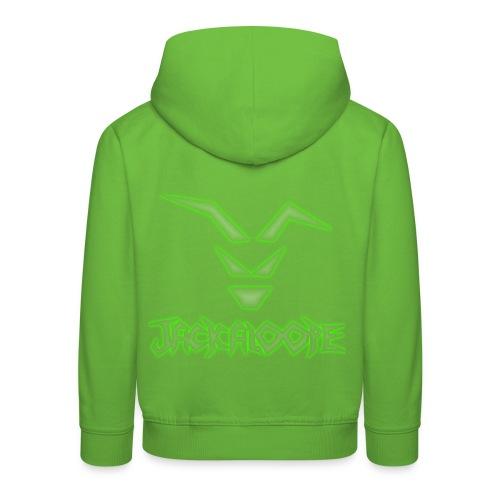 Logo_Schriftzug_alienglow - Kinder Premium Hoodie