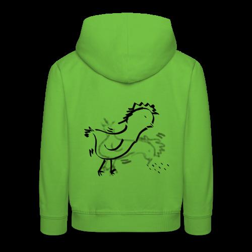 Das pickende Huhn - Kinder Premium Hoodie