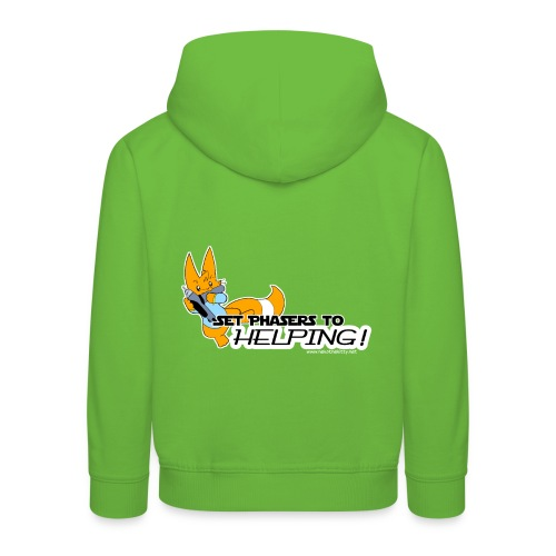Set Phasers to Helping - Kids' Premium Hoodie