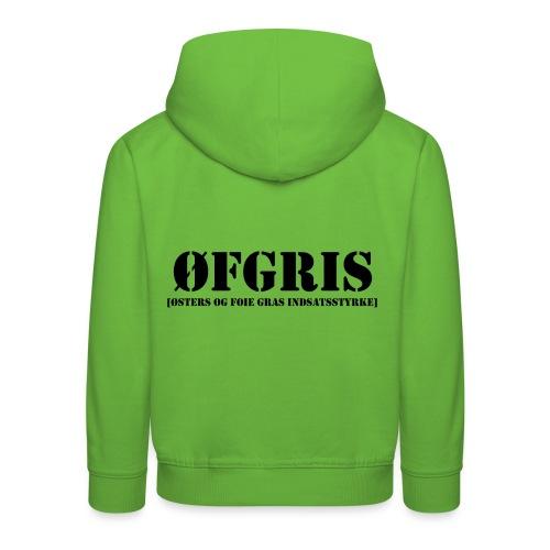 ØFGRIS - Børnekollektion - Premium hættetrøje til børn