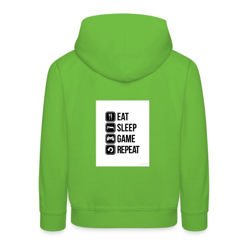 Eat Sleep Game Repeat Collection - Kids' Premium Hoodie
