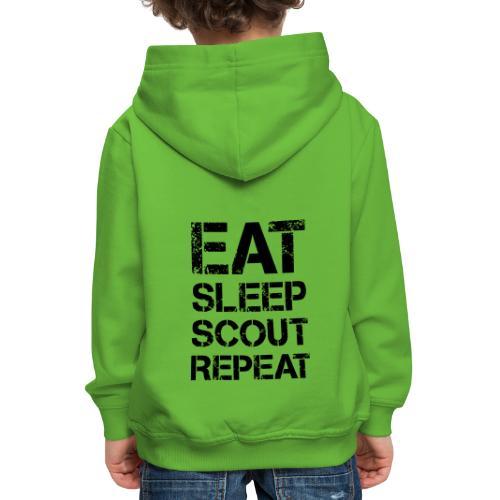 EAT SLEEP SCOUT REPEAT Kreide - Farbe frei wählbar - Kinder Premium Hoodie